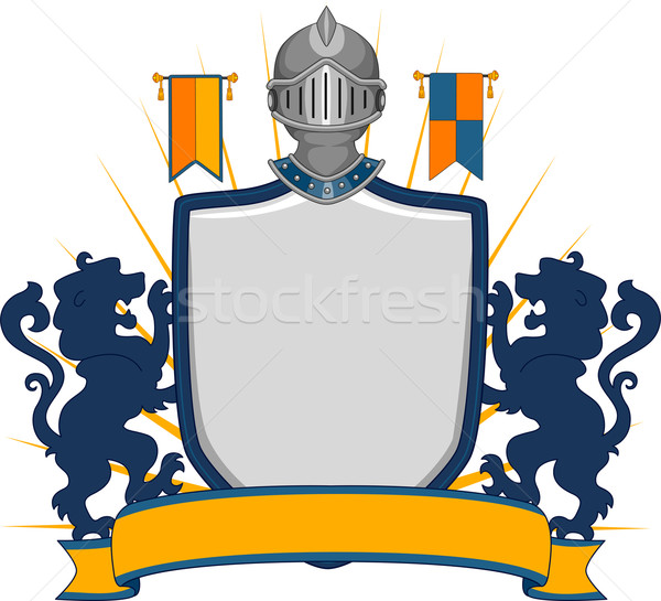 Stock photo: Medieval Shield Banner