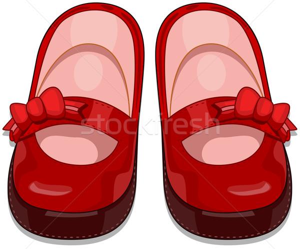 Baby Shoes Vector Illustration C Lenm 550328 Stockfresh