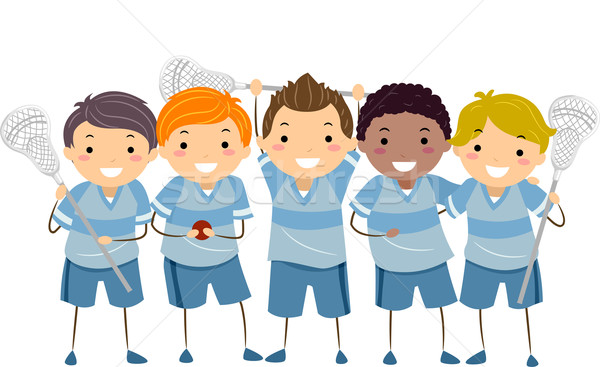 Stickman Boys Lacrosse Team Stock photo © lenm
