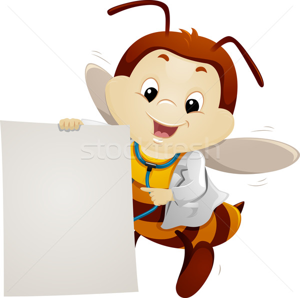 Mascot Bee Doctor Paper Stock photo © lenm
