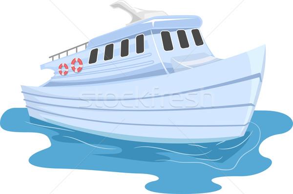 Balsa ilustração pequeno mar viajar trio Foto stock © lenm