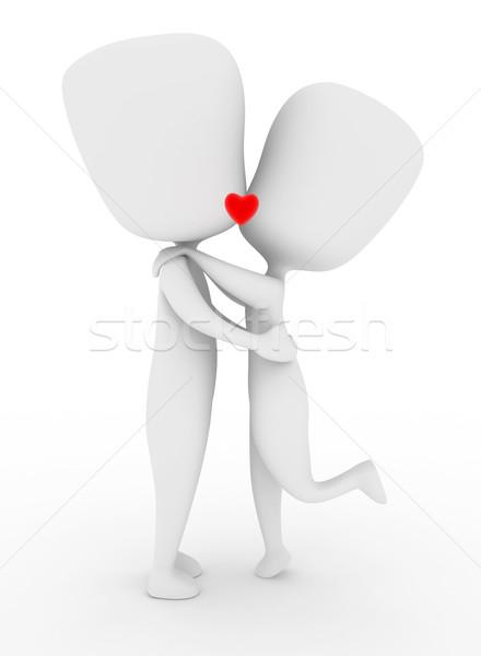 キス 実例 カップル 唇 キス ストックフォト © lenm