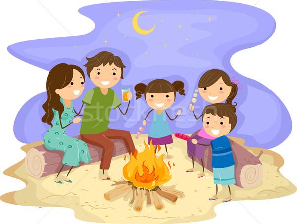 Family Bonfire Stock photo © lenm