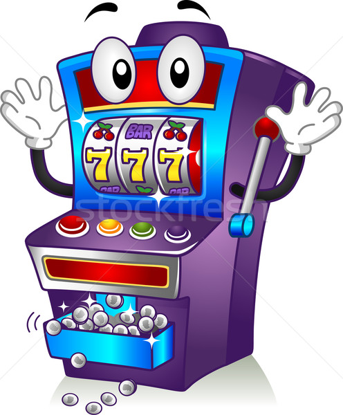 Mascotte illustration argent casino cartoon Photo stock © lenm