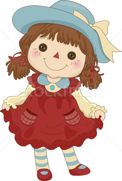 Zabawki ilustracja stałego lalek rozrywki Zdjęcia stock © lenm
