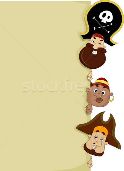 Pirates with Blank Board  Stock photo © lenm