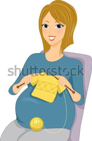 Leitura revista sorridente senhora mulher menina Foto stock © lenm