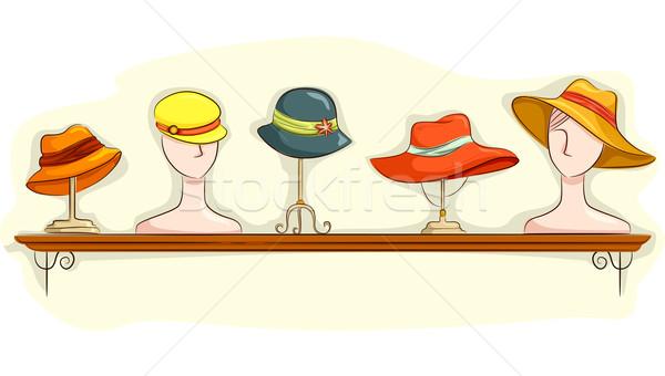 Hat Shelf Display Stock photo © lenm