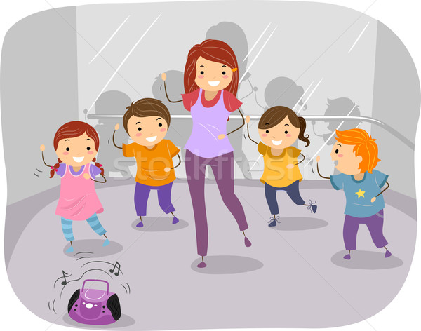 Dance Class Kids Vector Illustration C Lenm 4445559 Stockfresh