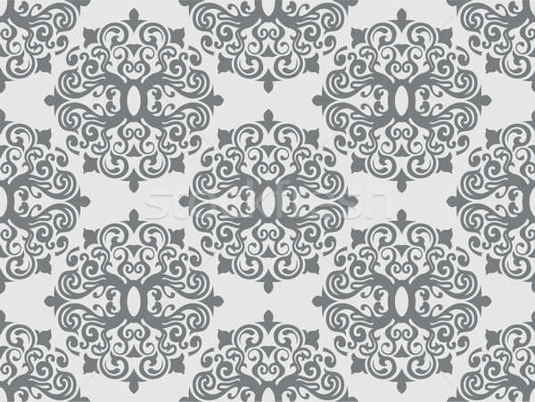 Seamless Damask Pattern Stock photo © lenm
