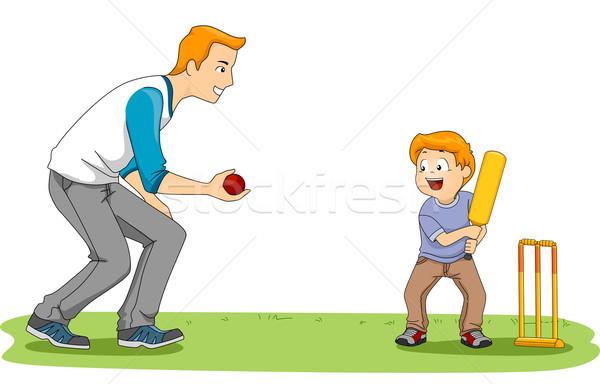 Cricket Game Stock photo © lenm