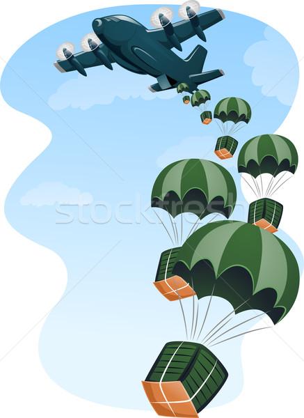 Cargo Plane Air Drop Stock photo © lenm
