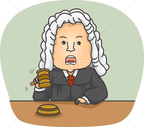 Hombre juez ilustración enojado Foto stock © lenm