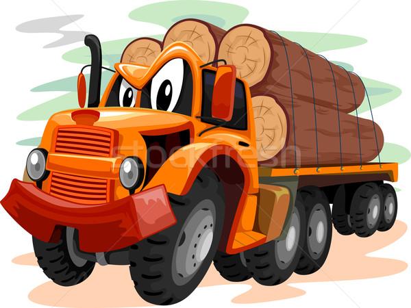 Mascot Logging Truck Stock photo © lenm