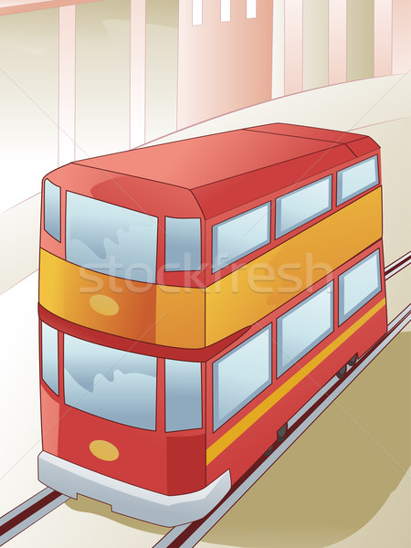 Double Decker Tram Stock photo © lenm