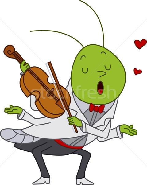 グラスホッパー 演奏 バイオリン 実例 音楽 愛 ストックフォト © lenm