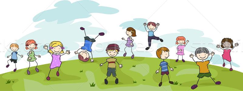 Kids Playing Stock photo © lenm