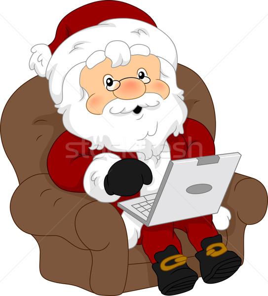 laptop computer weihnachten karikatur forschung. Black Bedroom Furniture Sets. Home Design Ideas