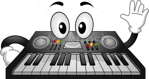 Electronic Keyboard Mascot Stock photo © lenm