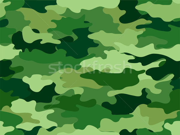 Green Camouflage Print Background Stock photo © lenm