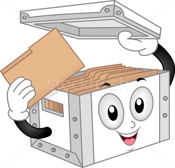 Storage Box Mascot Stock photo © lenm