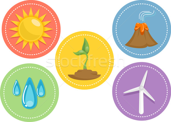 Renewable Energy Icons vector illustration © lenm (#4425940