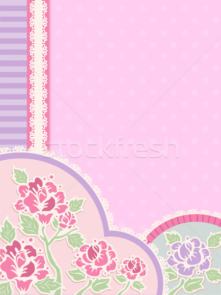 Shabby Chic Corner Border Stock photo © lenm