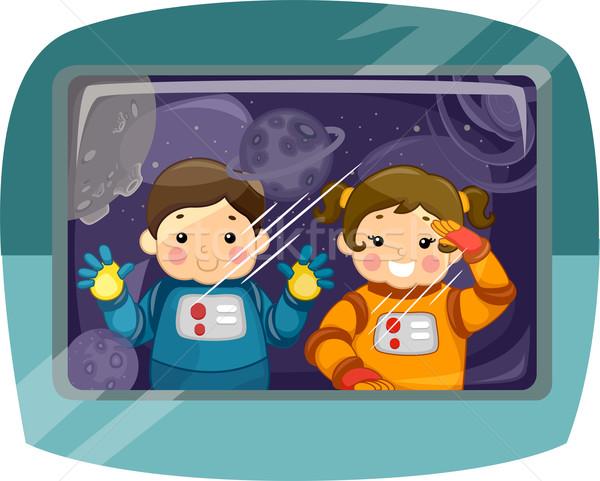 Kiddie Astronauts Stock photo © lenm