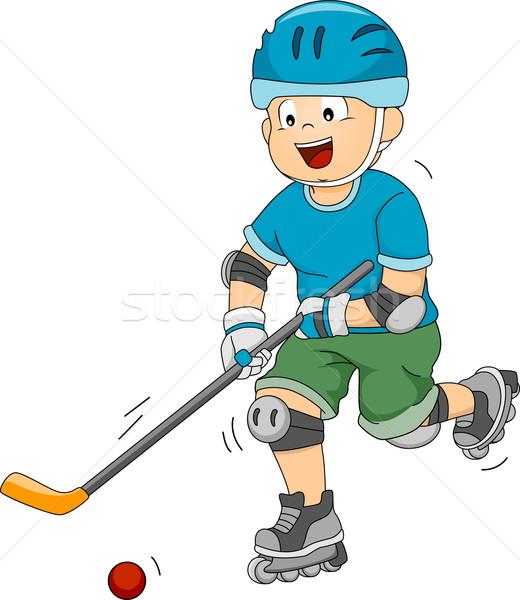 Hockey ilustración movimiento pelota deporte Foto stock © lenm