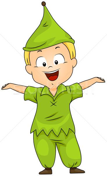 çocuk cüce kostüm örnek erkek çocuk Stok fotoğraf © lenm