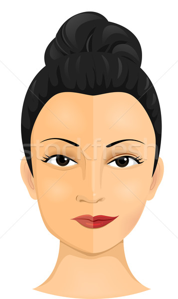 Girl Face Cosmetic Surgery Stock photo © lenm