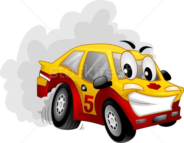 Mascot Car Drift Stock photo © lenm