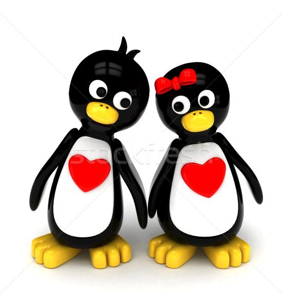 Penguin Couple Stock photo © lenm