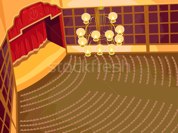 Opera illustrazione interni elegante casa Foto d'archivio © lenm