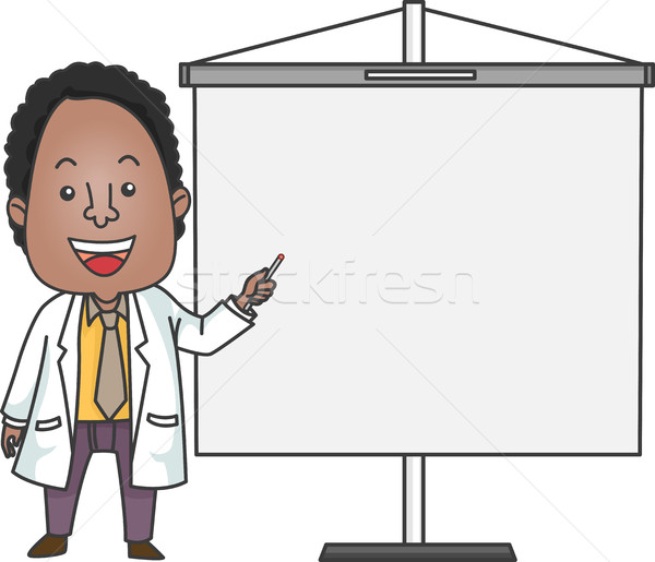 African American Doctor Giving Presentation Stock photo © lenm