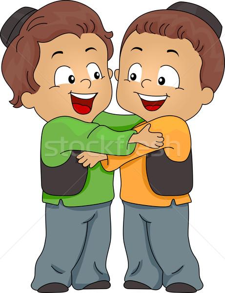 мусульманских иллюстрация дети обнять Сток-фото © lenm