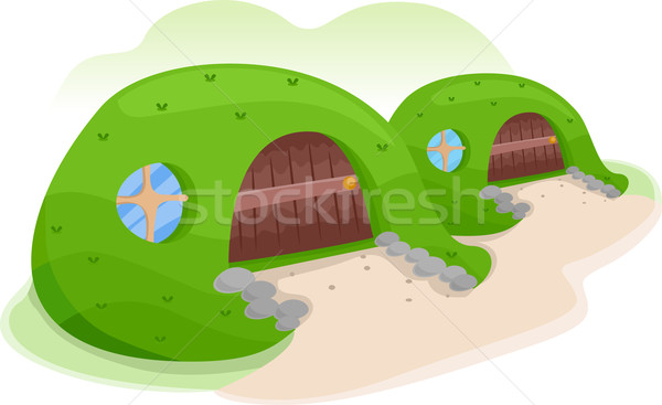 Earth Sheltered House Stock photo © lenm