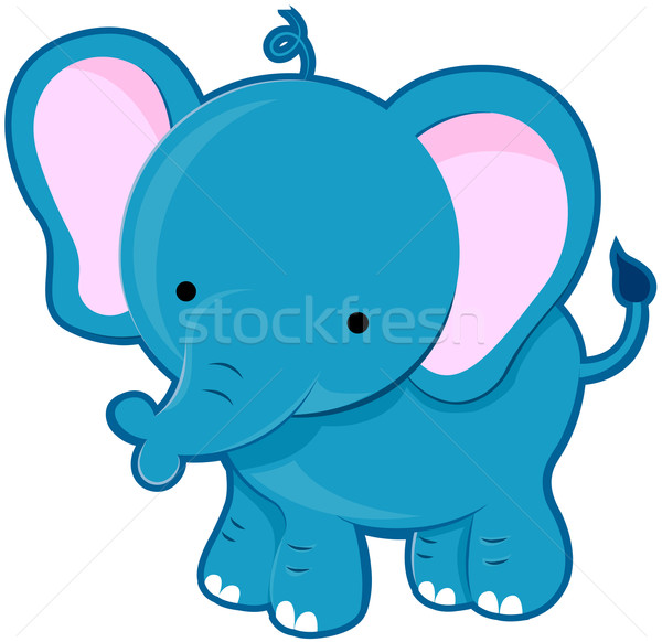 Cute elefante animale cartoon piedi Foto d'archivio © lenm
