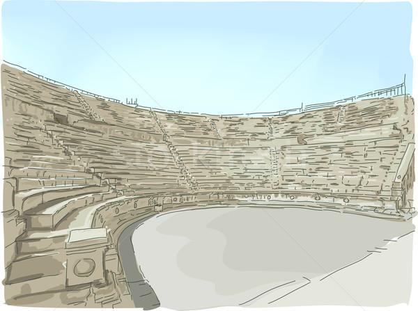 Jerash Ampitheater Stock photo © lenm