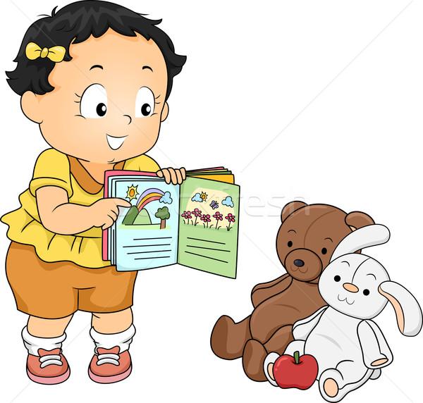 Baby Teacher Stock photo © lenm