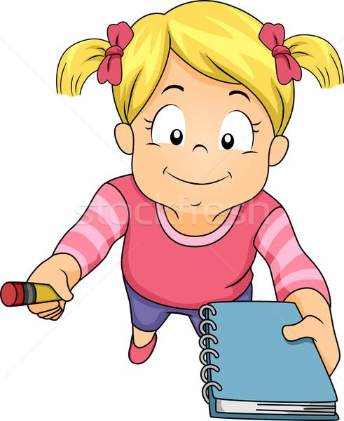 Girl Notebook Invite Stock photo © lenm