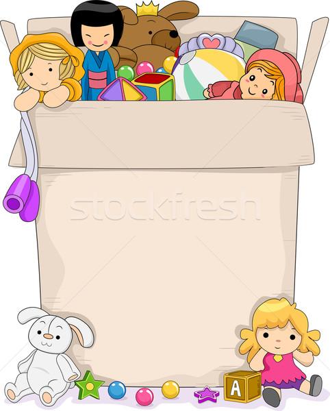 Girls Toy Box Stock photo © lenm