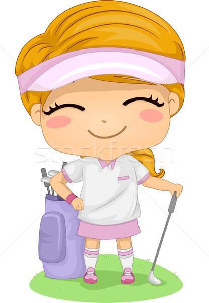 Golf Girl Stock photo © lenm