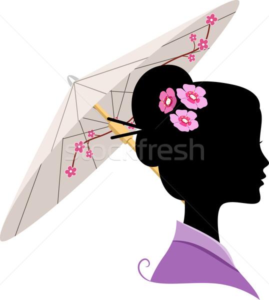 Japanese Silhouette Stock photo © lenm