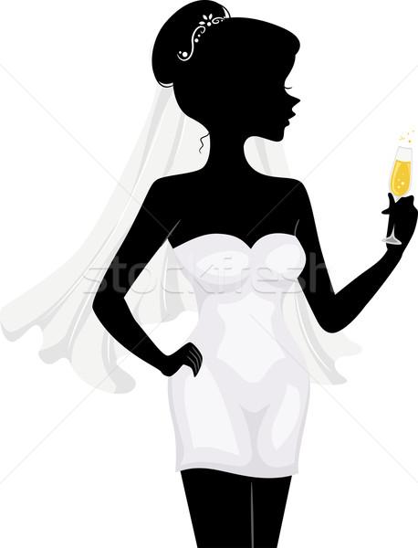 Bachelorette Silhouette Stock photo © lenm