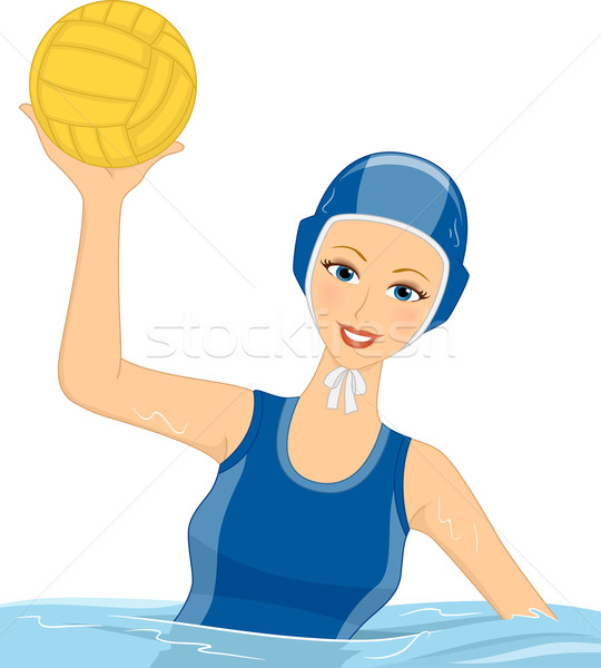 Girl Water Polo Stock photo © lenm