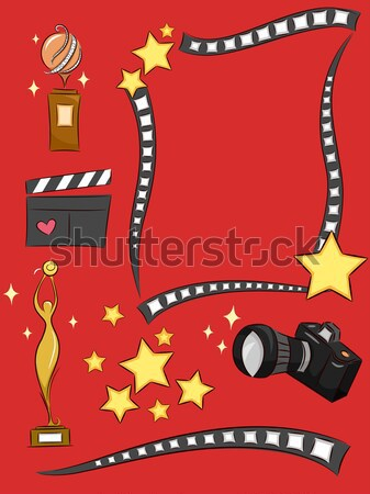 Film stelle frame illustrazione negative decorato Foto d'archivio © lenm