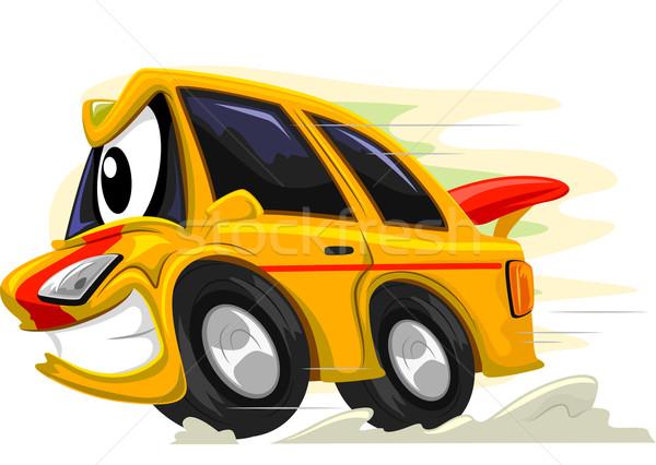 Mascot Racing Car Stock photo © lenm