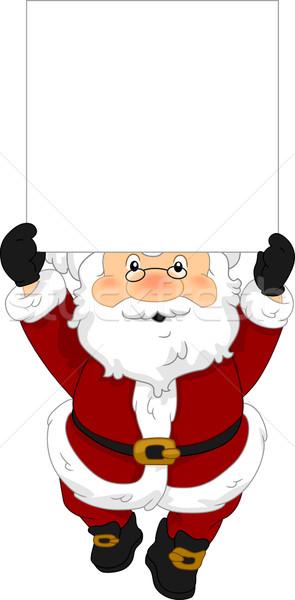Santa Board Stock photo © lenm