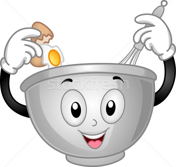 Mixing Bowl Mascot Stock photo © lenm